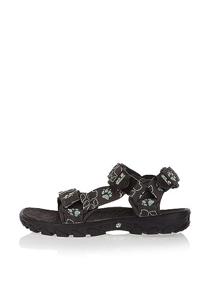 best sneakers 01979 44457 Jack Wolfskin Sandale Seven Frauen, schwarz/türkis, 38 ...