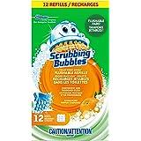 Scrubbing Bubbles Fresh Brush Toilet Cleaning System, Flushable Refills, Citrus Scent, 12 Brush Pads