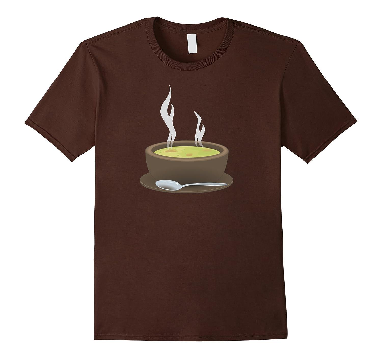 Bowl of Hot Soup T-Shirt Chicken Noodle Split Pea-Vaci