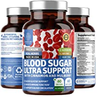 N1N Premium Blood Sugar Support [20 Herbs and Multivitamins] Promotes Glucose Metabolism, Healthy Blood Sugar Levels and Cardiovascular Health. Gluten-Free and Non-GMO, 60 Caps