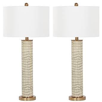 Safavieh Lombard Table L& Cream E27 13 W Set of 2  sc 1 st  Amazon UK & Safavieh Lombard Table Lamp Cream E27 13 W Set of 2: Amazon.co ... azcodes.com