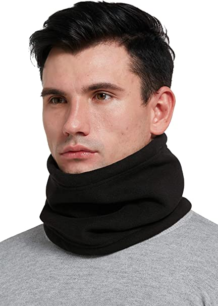 Neck Warmer Snood Scarf Winter Ski Cycling Warm Fleece Mens Womens