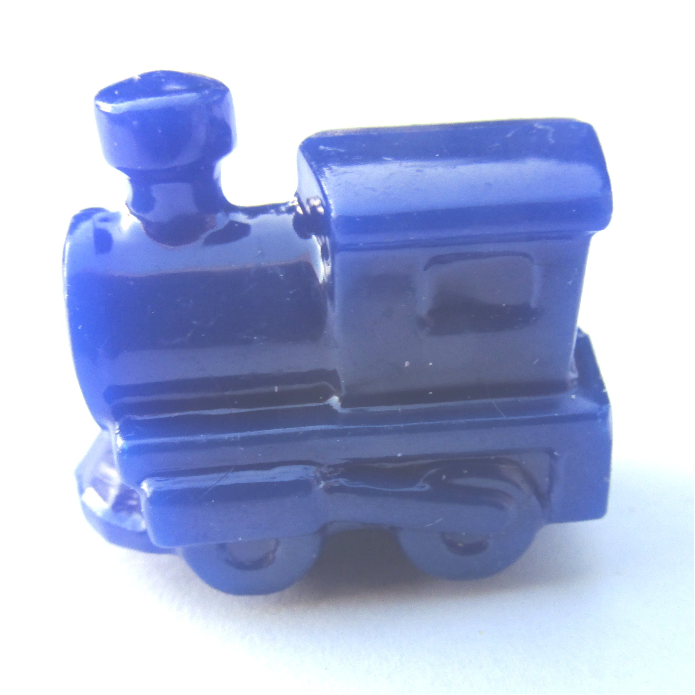 25 Blue Train Beads