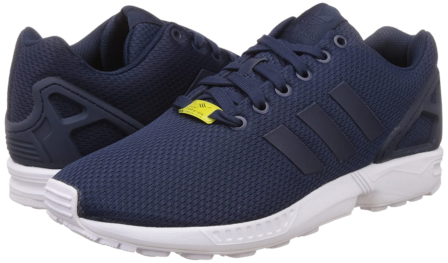 Adidas ZX Flux, Zapatillas Unisex Adulto 37 1/3 EU|Multicolor (Azul Marino/Blanco)