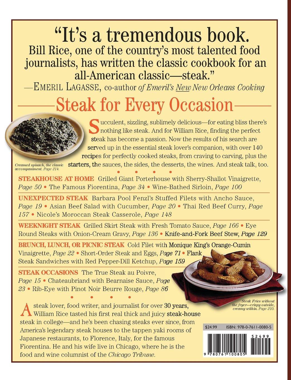 Steak lovers cookbook william rice 0019628100801 amazon books forumfinder Choice Image
