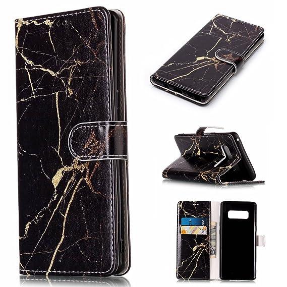 the best attitude 70a82 184a7 Amazon.com: Ademen Samsung Galaxy Note 8 Wallet Case, Gold Glitter ...