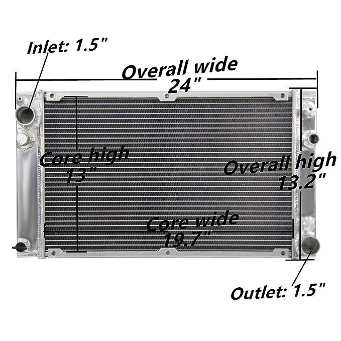 ozcoolingparts Pro 3 fila Core Radiador de aluminio para Porsche 944 1983 - 1991 2.5L - 2.7L - 3.0L - L4 Motor at/MT: Amazon.es: Coche y moto