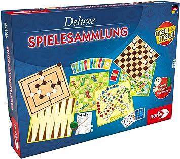 noris Deluxe Spielesammlung Niños Estrategia - Juego de Tablero (Estrategia, Niños, 6 año(s), Alemán, Interior, Caja): Amazon.es: Juguetes y juegos