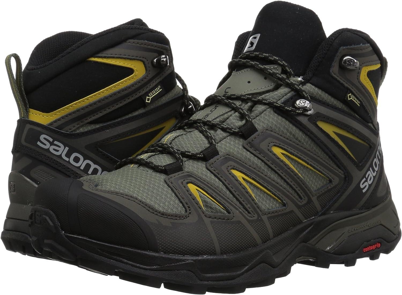 SALOMON X Ultra 3 Wide Mid GTX Castor Gra Chaussures de randonn/ée pour Homme