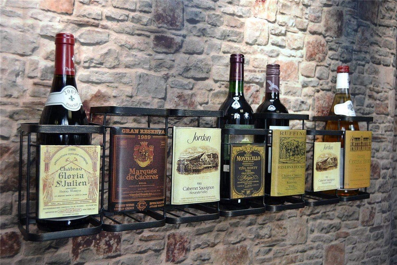 Livitat Wandregal Wein Weinregal Flaschenregal Metall Used Look Vintage Lv5010 4 Flaschen Amazon De Kuche Haushalt