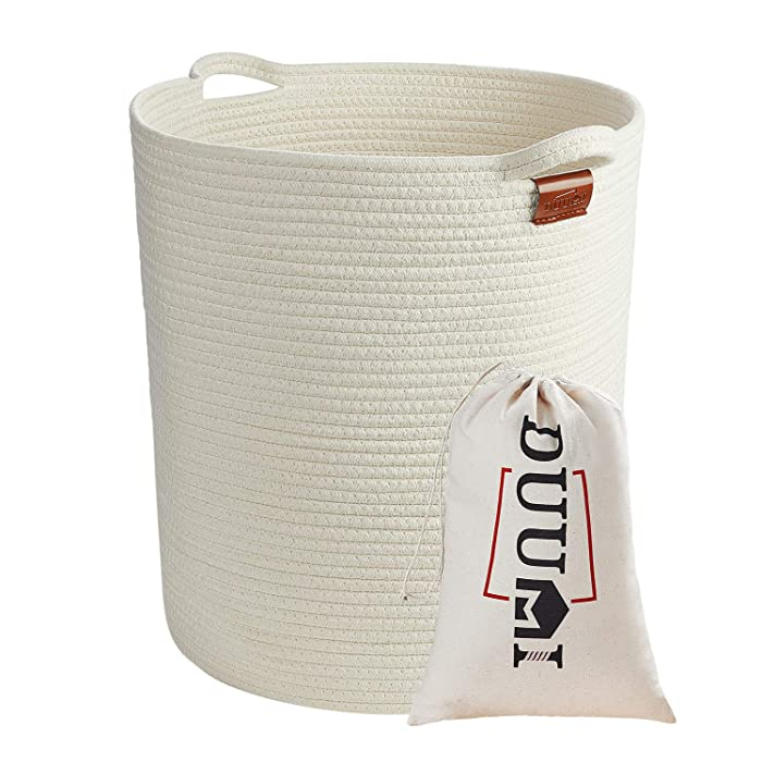 "DUUMI 16"" x 18"" Extra Large Storage Baskets Cotton Rope Woven Nursery Bins(XL)"