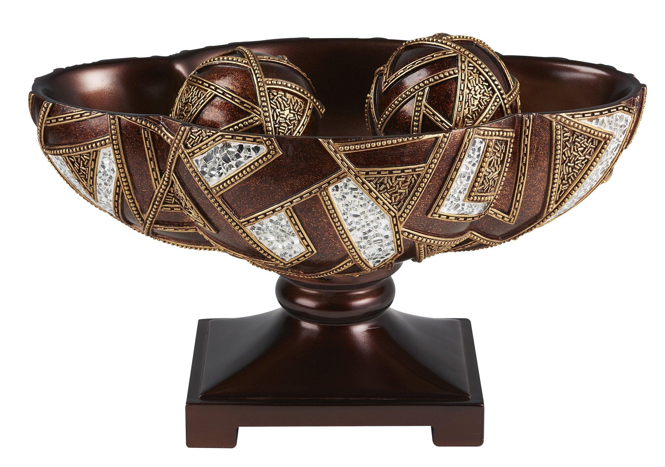 OK Lighting 10'' H Polymosaic Decorative Bowl with Spheres by OK Lighting (Image #1)