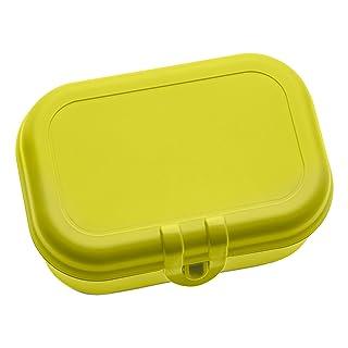 koziol Pascal S lunch box, contenitore per il pane, pane Dose, Box, contenitore per cibi, Plastica, Giallo Senape Verde, 6.6cm, 3158582 6.6cm