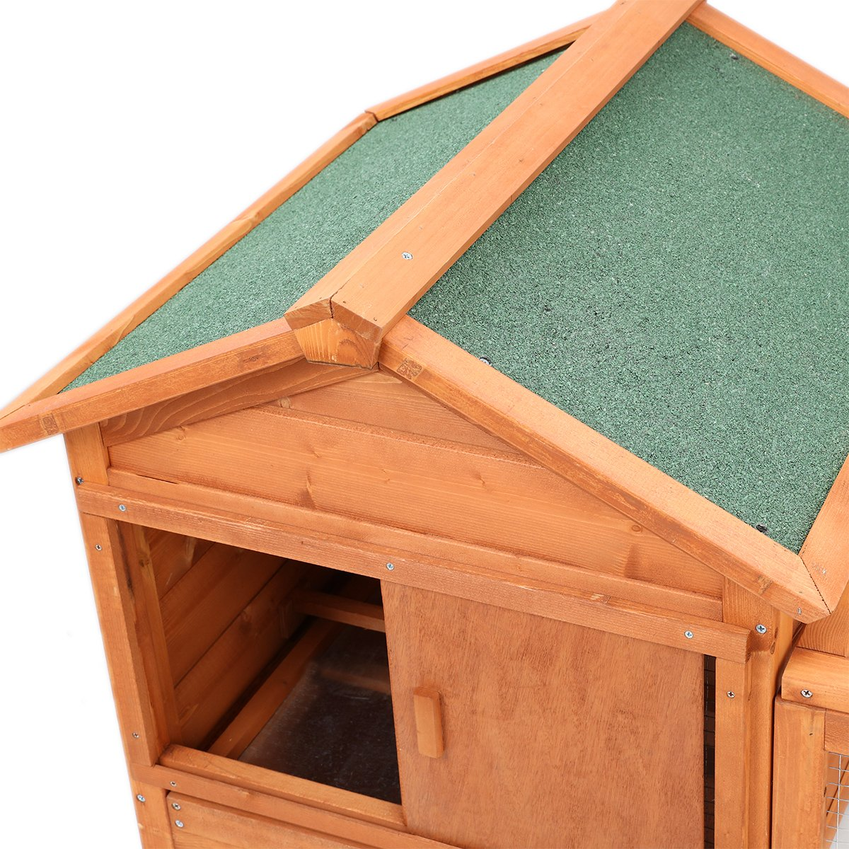 Magshion Wooden Chicken Coop Rabbit Bunny Hutch Pet Cage Wood Small Animal Poultry Cage Run Indoor by Magshion (Image #3)