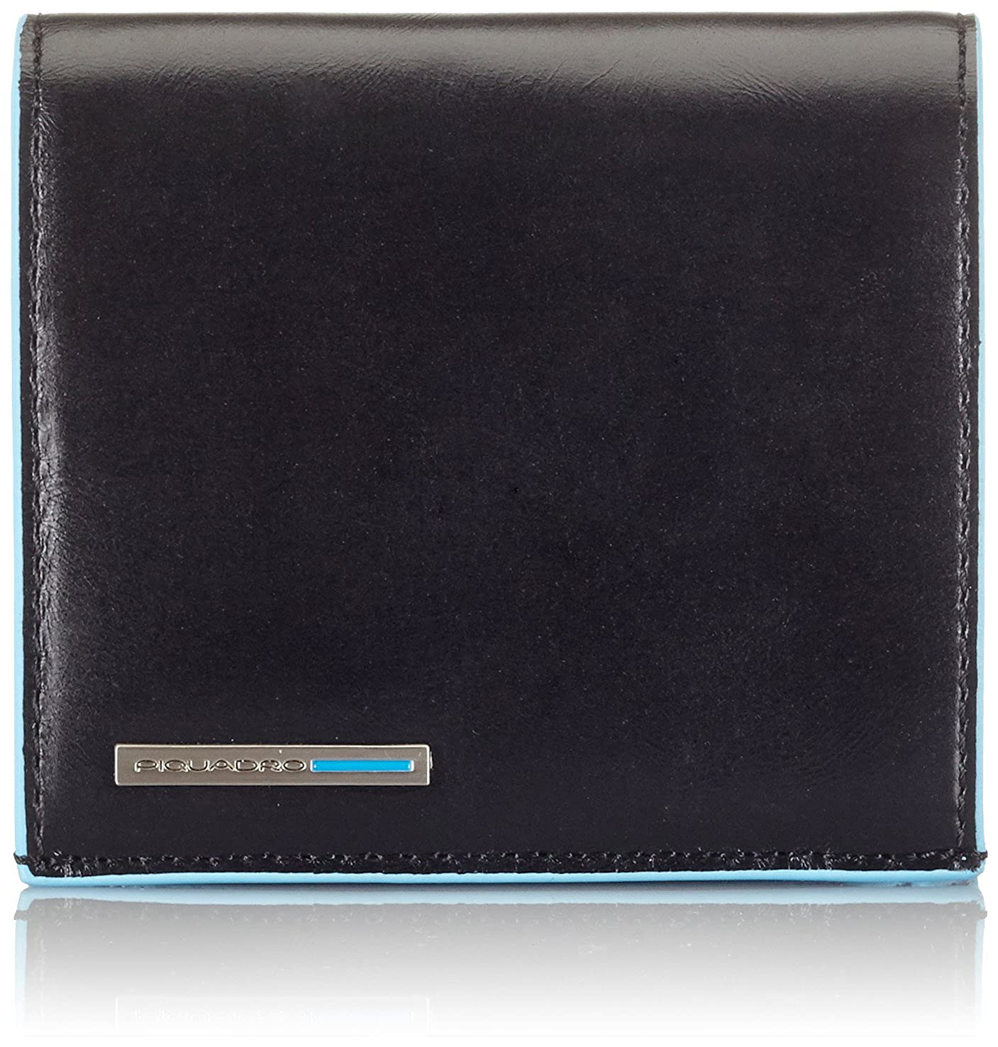 Piquadro Blue Square Hochformatbörse 4KK Piquadro Münzbörse Mogano (braun) - PU1741B2 PU1741B2/MO