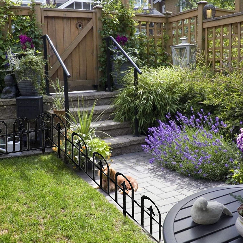 5PCS Garden Fence Landscape Garden Border Edging Barrier Lawn ...