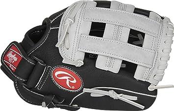Rawlings Luva de beisebol juvenil série Sure Catch, Pro H Web, 28 cm, mão direita, preto/cinza