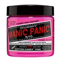 Manic Panic Cotton Candy Pink Hair Dye - Classic High Voltage - Semi Permanent Hair...