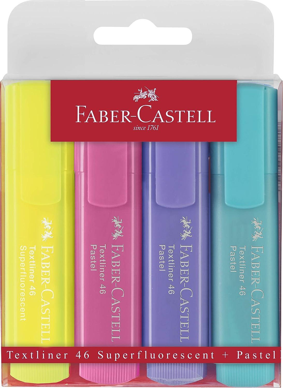 Estuche con 4 marcadores fluorescentes tonos pastel Textliner 1546 ...