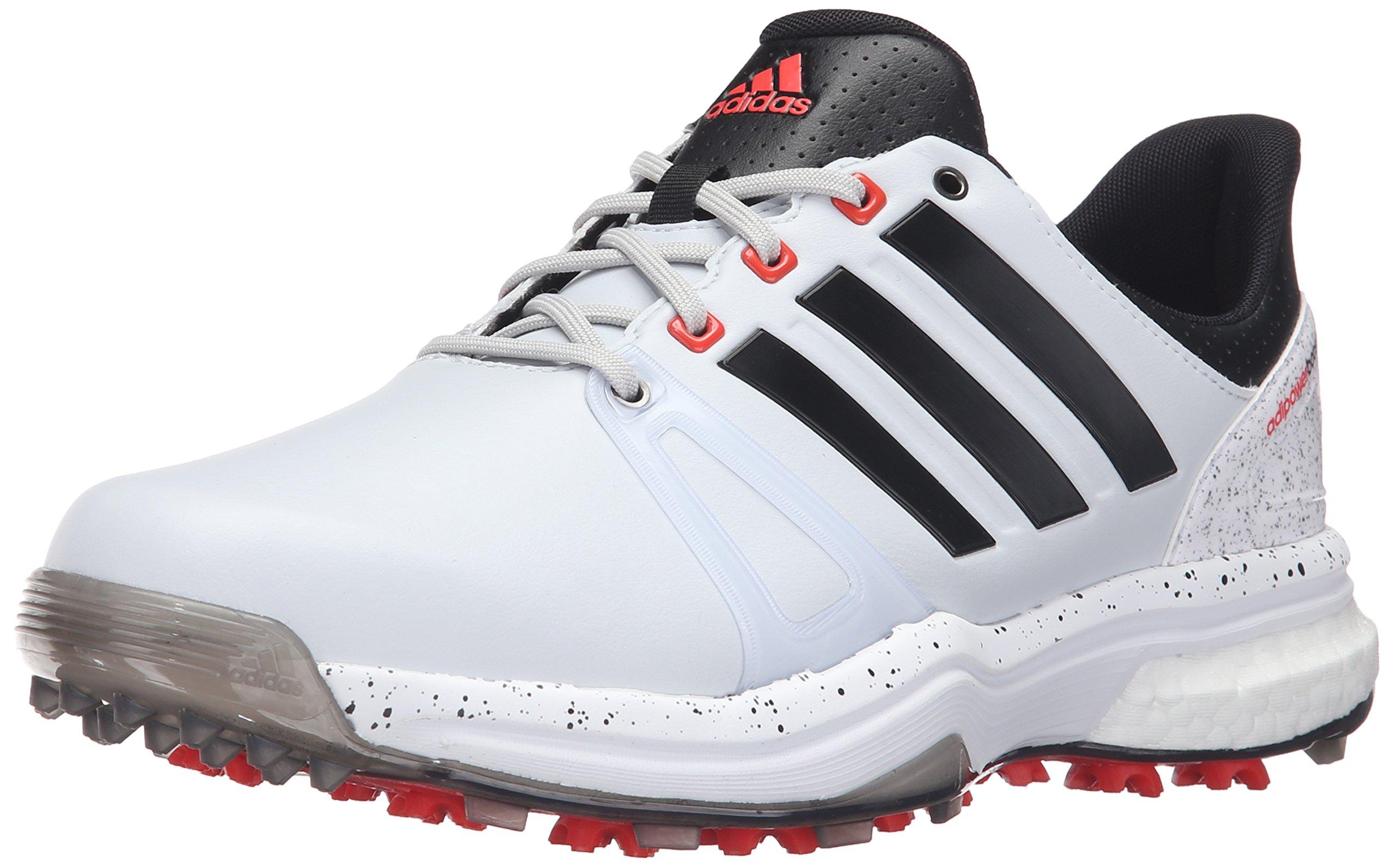 adidas Men's Adipower Boost 2 Golf Shoe, Clear/Grey/Black/Fatwa White, 10.5 M US