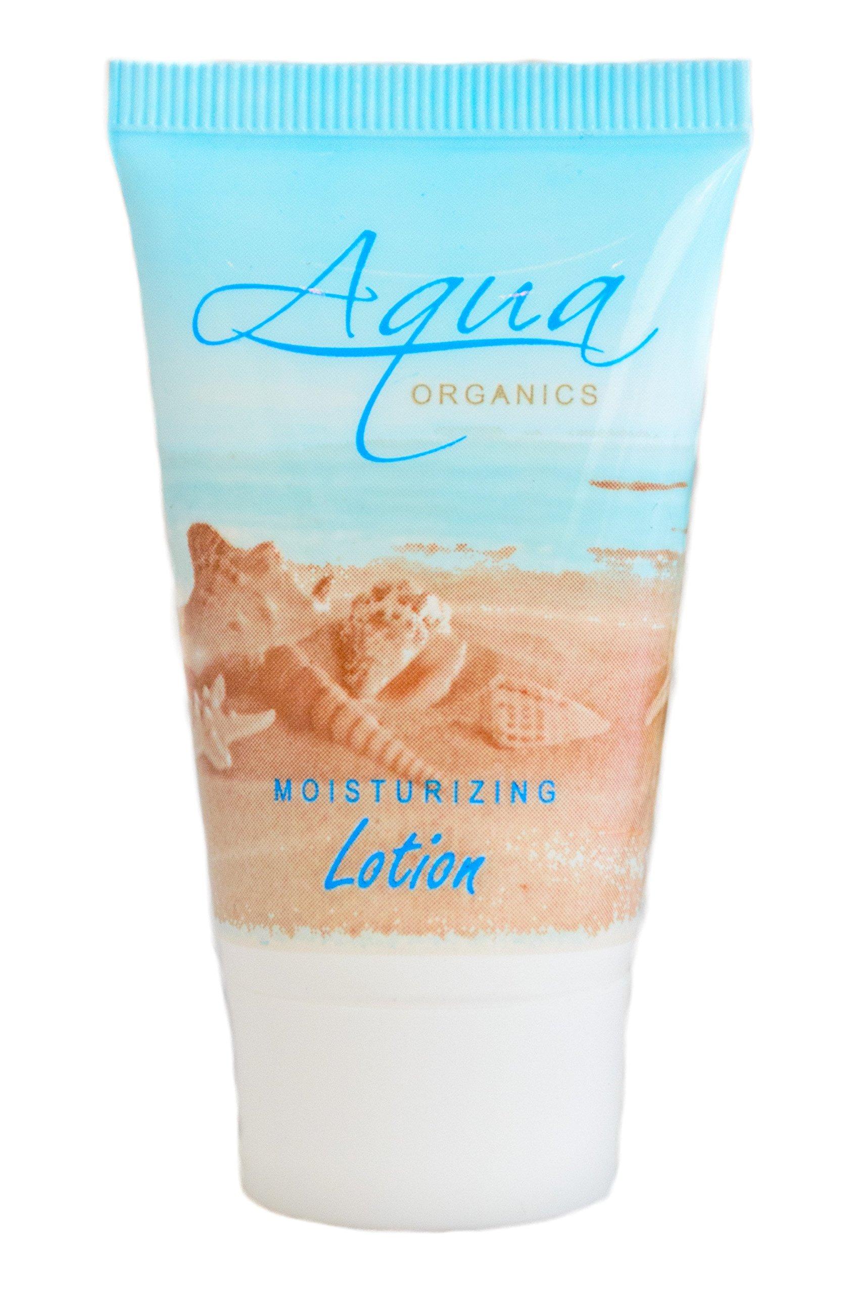Aqua Organics Lotion, 1 oz. Hospitality/Travel Size Tube with Pure Aloe and Organic Olive Oil (Case of 300)