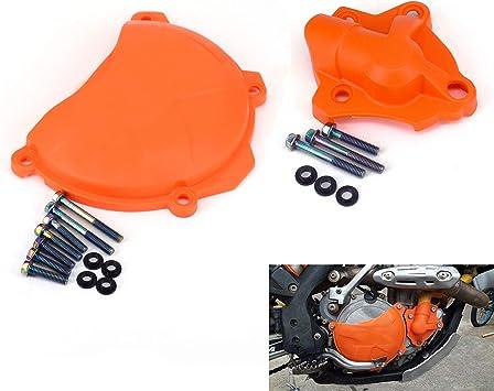 Rear Motorcycle Steel Braided Brake Line Standard Length Orange for KTM 350 XCF-W 2012-2016