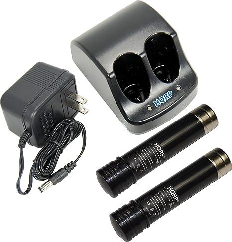 Amazon.com: HQRP – Cargador de batería y dos baterías para ...