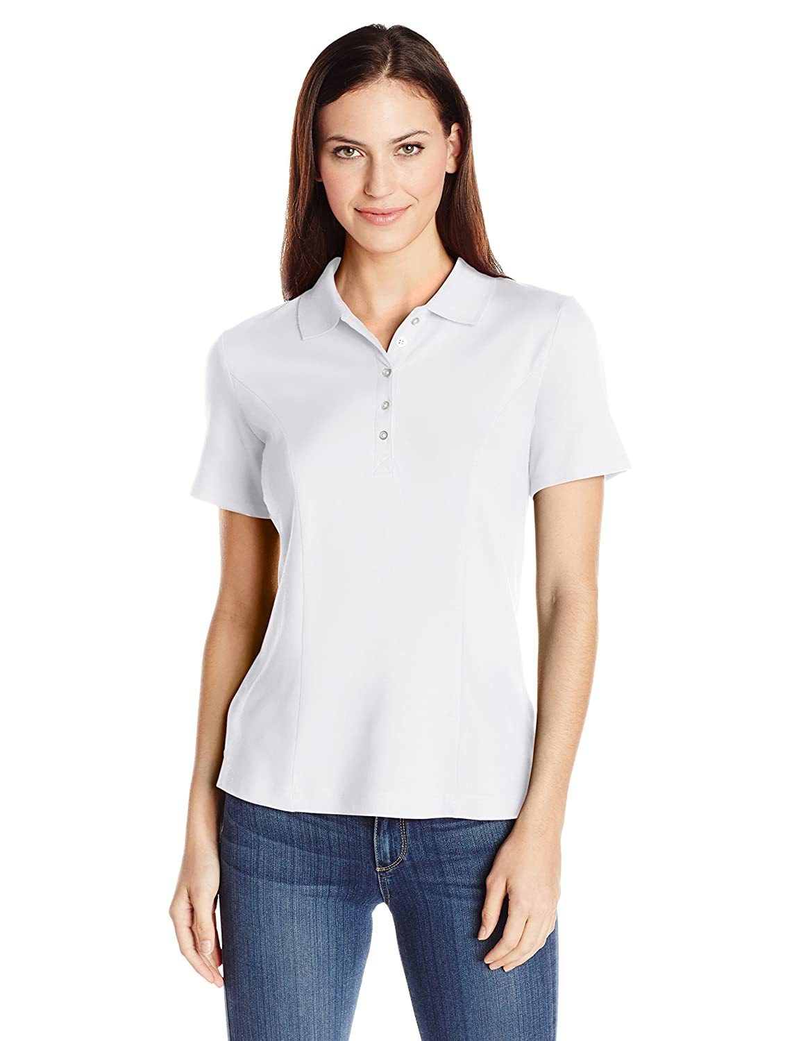 Riders by Lee Indigo Women's Short-Sleeve Polo Shirt ZFMK2