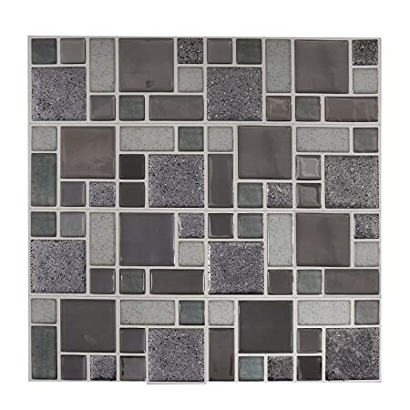 self adhesive reusable glitter mosaic tile wall stickers peel off