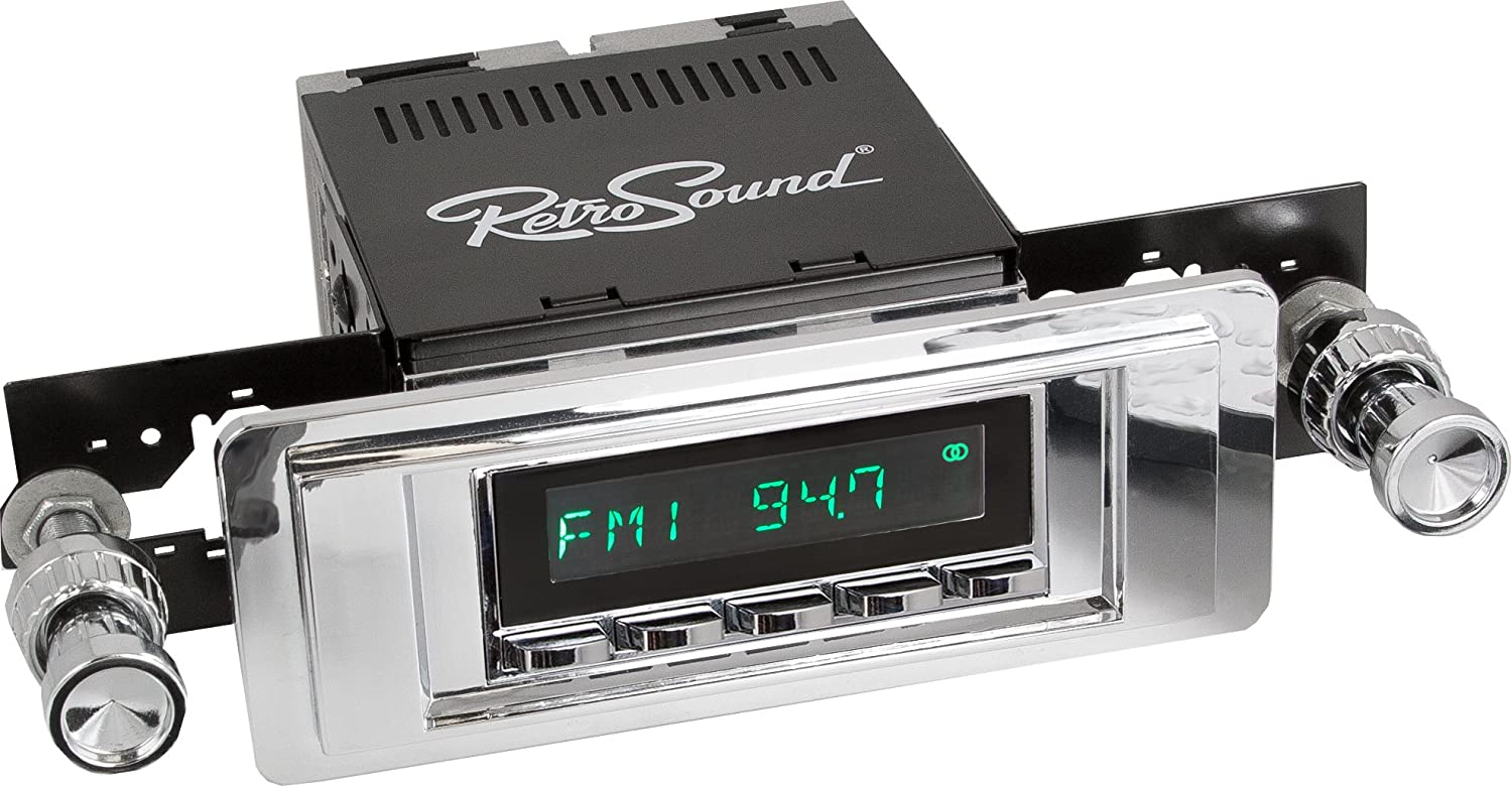 RetroSound HC-102-04-74 Hermosa Direct-fit Radio for Classic Vehicles Chrome Face /& Buttons and Chrome Bezel