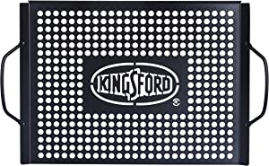 Kingsford Heavy Duty Non-Stick Grill Topper | Non-Stick, Rust Resistant Grill Pan with Handles | Easy to Use BBQ Grill Accessories Made from Durable Carbon Steel