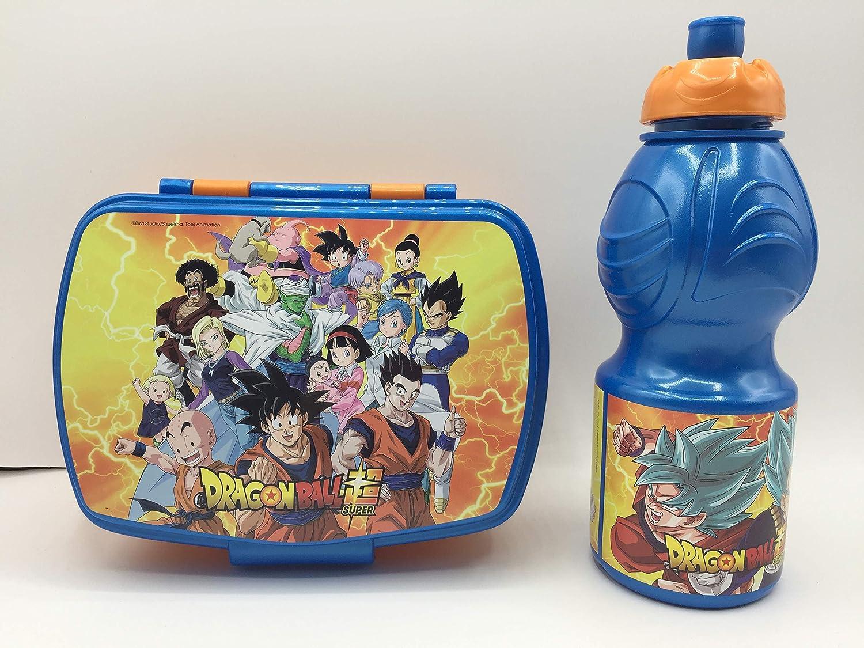 CM Pack 2pcs Botella de Agua plastico Infantil 400ml- Fiambrera sandwicheras para niños, cantimplora a Prueba de Fugas sin BPA