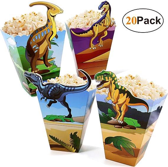 Cajas de palomitas de maíz con diseño de dinosaurio, paquete de 20 ...