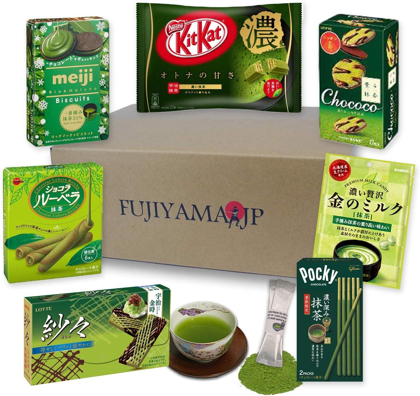 Japanese Matcha Green Tea Sweets and Snacks assortment gifts 8 pcs: Amazon.es: Alimentación y bebidas