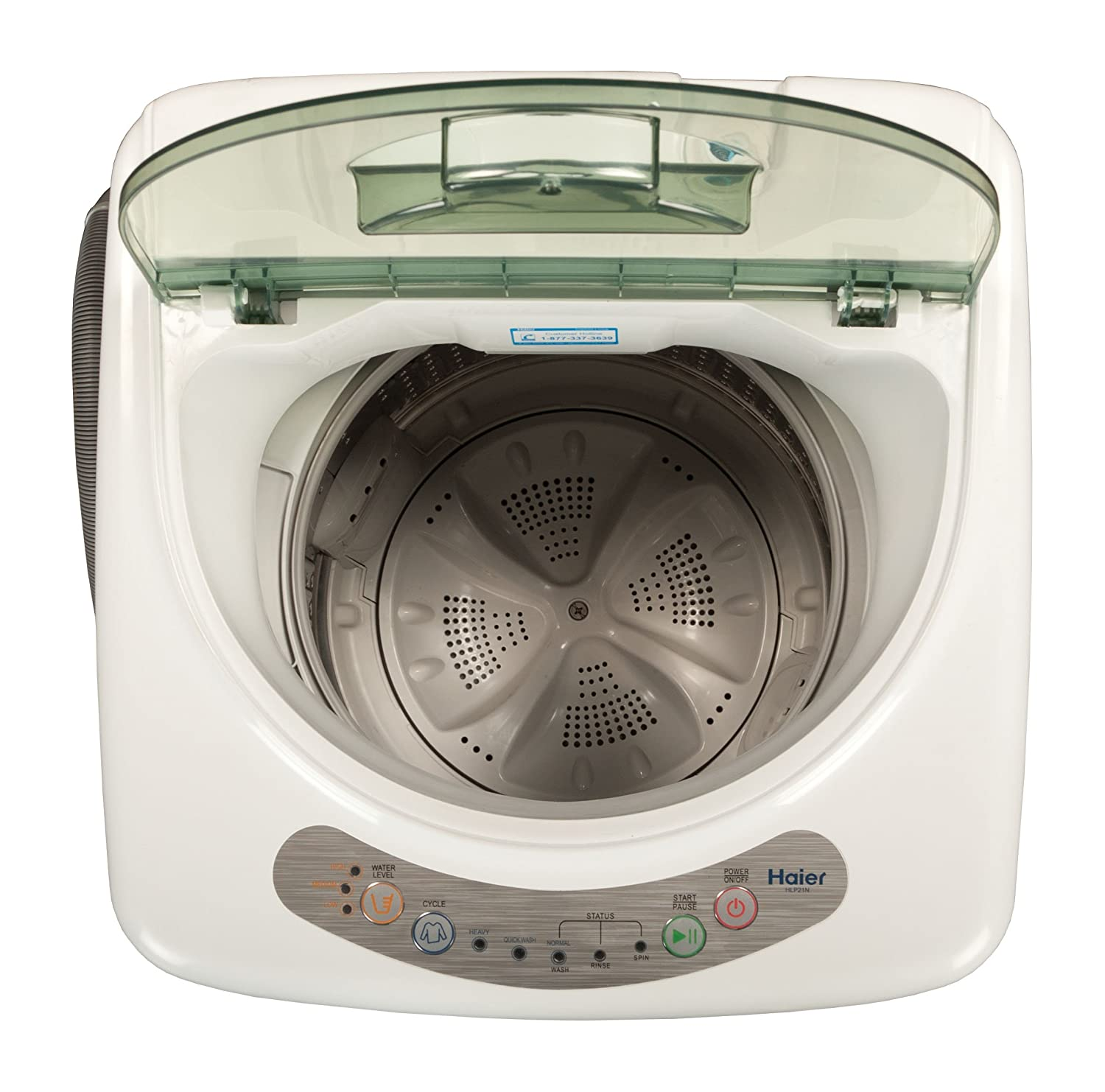 Amazon.com: Haier HLP21N Pulsator 1-Cubic-Foot Portable Washer ...