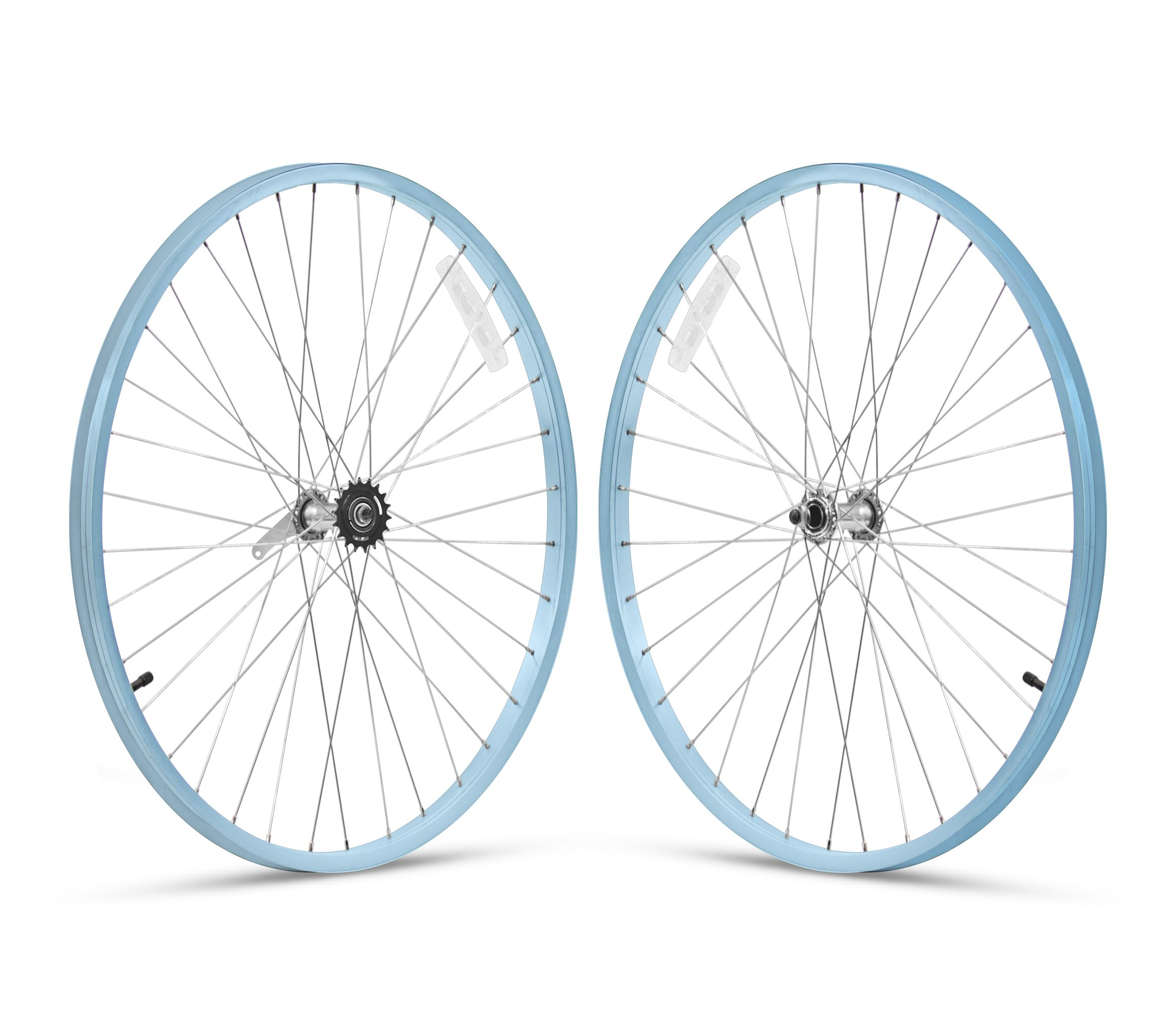 Firmstrong 1-Speed Beach Cruiser Bicycle Wheelset, Front/Rear, Baby Blue, 26'' by Firmstrong