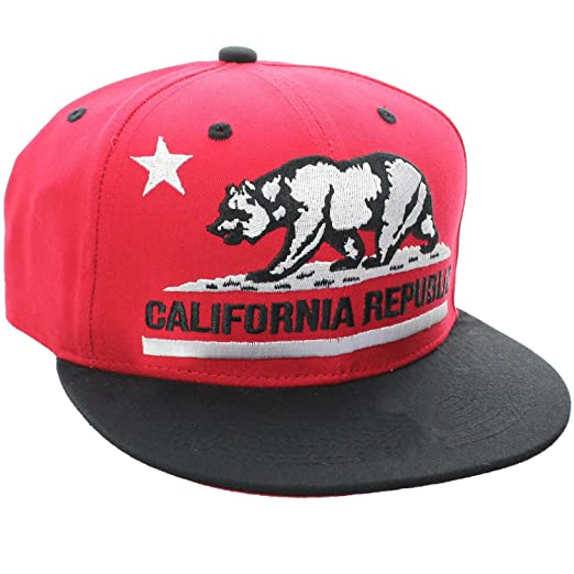 7335524d777 Amazon.com  California Republic Vintage Style Flat Bill Snapback Cap ...
