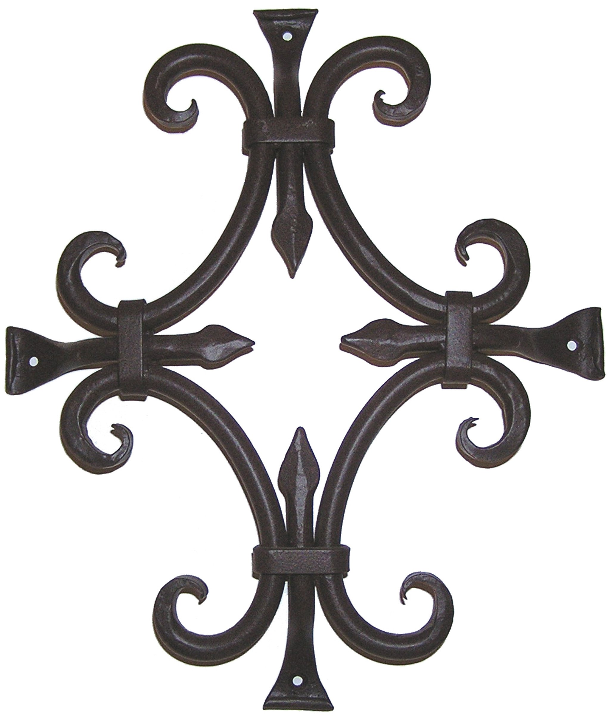 Agave Ironworks Round Bar Fancy Grille, Flat Black Finish