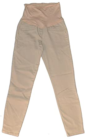 abb3ba37f Image Unavailable. Image not available for. Color: GAP Maternity Khaki  Ultra Skinny Full Panel Pants 6 Long