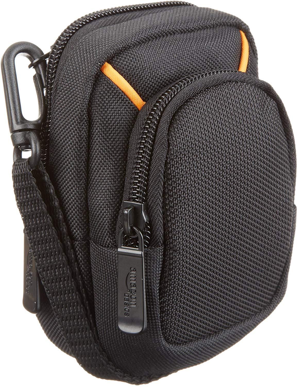 Amazon Basics Medium Point and Shoot Camera Case - 5 x 3 x 2 Inches, Black