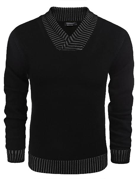 Rabatt-Verkauf unglaubliche Preise klassischer Stil Coofandy Men's Knitted Sweaters Casual V-neck Slim Fit ...