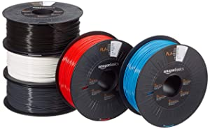 AmazonBasics PLA 3D Printer Filament, 1.75mm, 5 Assorted Colors, 1 kg per Spool, 5 Spools