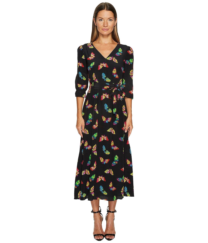 [ブティック モスキーノ] Boutique Moschino レディース Silk Butterfly Maxi ドレス [並行輸入品] B074YZKJQ5 40|Black Black 40