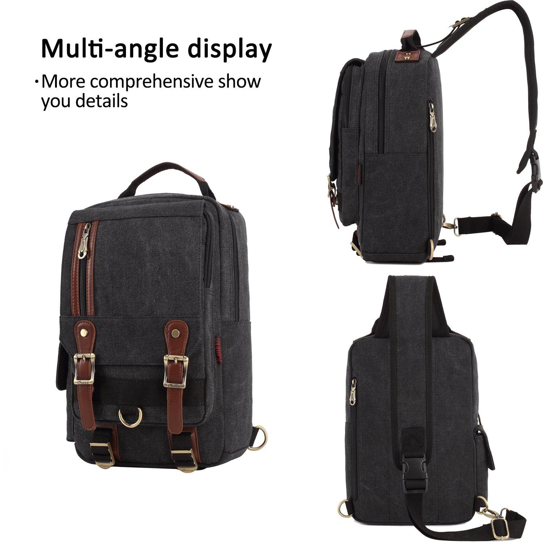 FANDARE Sling Bag Messenger Bag One Shoulder Backpack ipad Bag Travel Bag Canvas