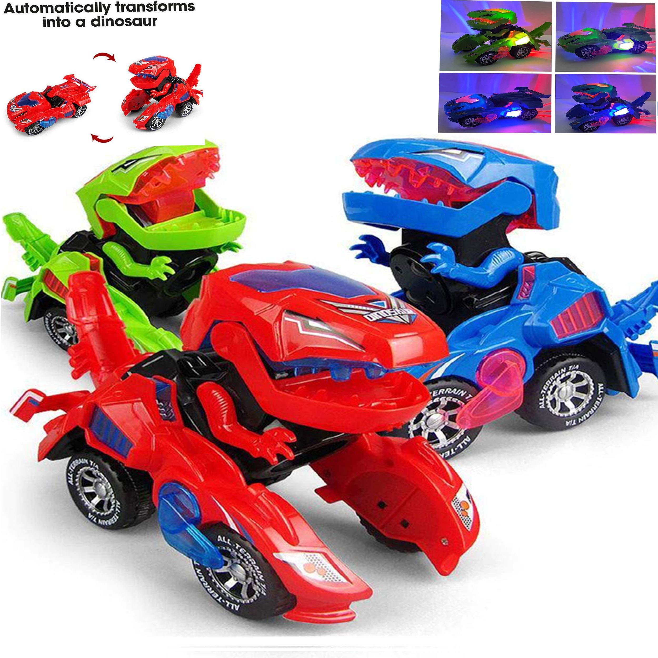 lonko5DING Transforming Dinosaur LED Car Dinosaur Transform Car Toy Automatic Dino Dinosaur Transformer Toy by lonko5DING