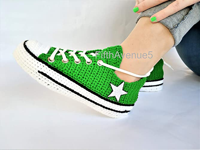68fc096e858 Amazon.com: Handcrafted Creative Knitting Style Crochet Slippers For Men  And Women Indoor Slip on Shoes, Comfortable And Relaxing House Footwear:  Handmade