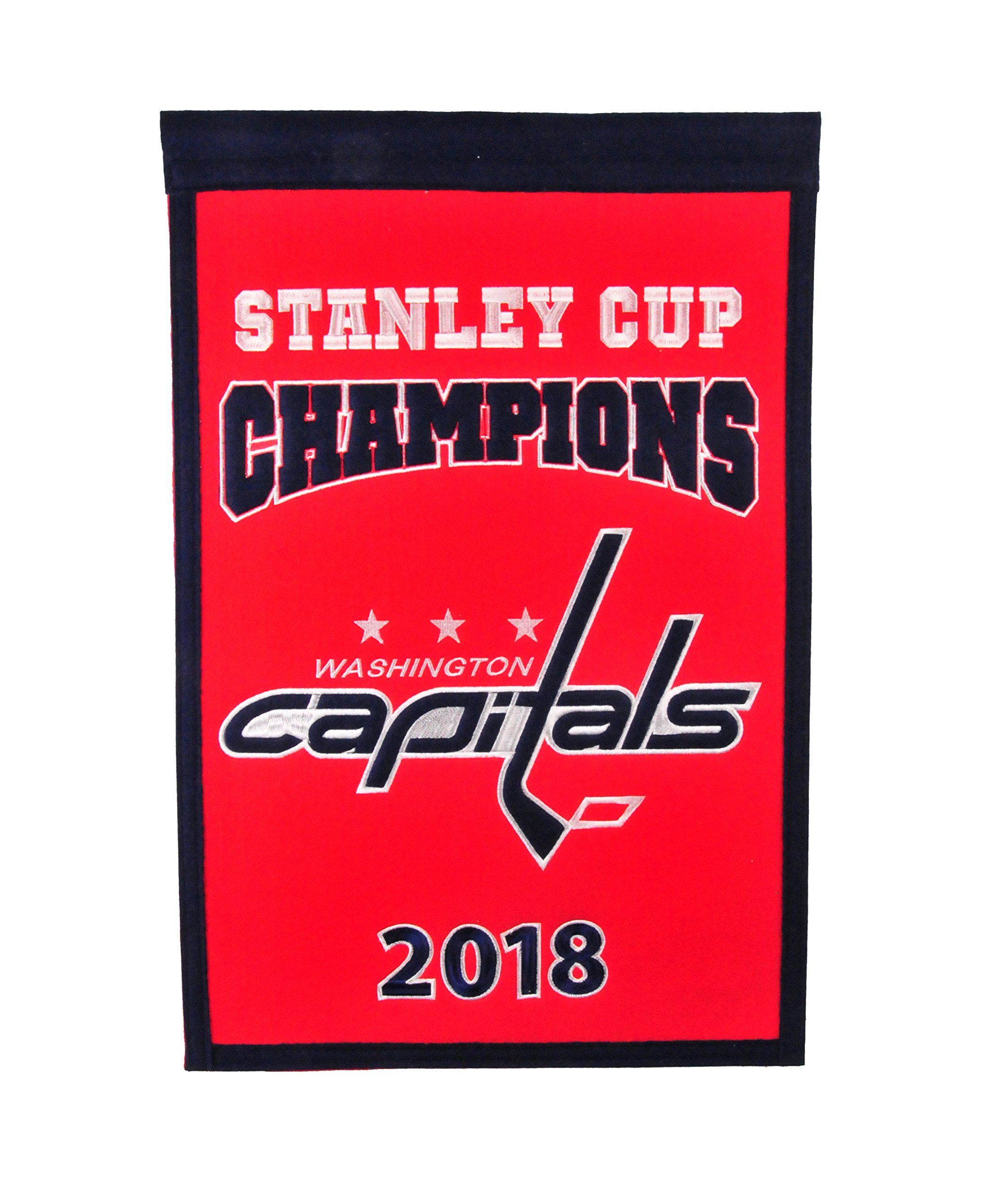 Washington Capitals 2018 NHL Stanley Cup Champions Champs Banner by Winning Streak