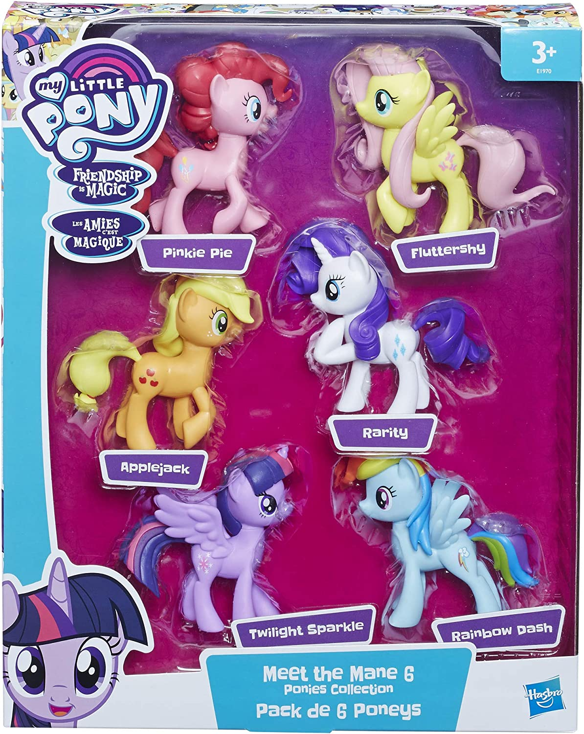 My Little Pony E1970 Meet The Mane 6 Ponies Collection, Multicolor