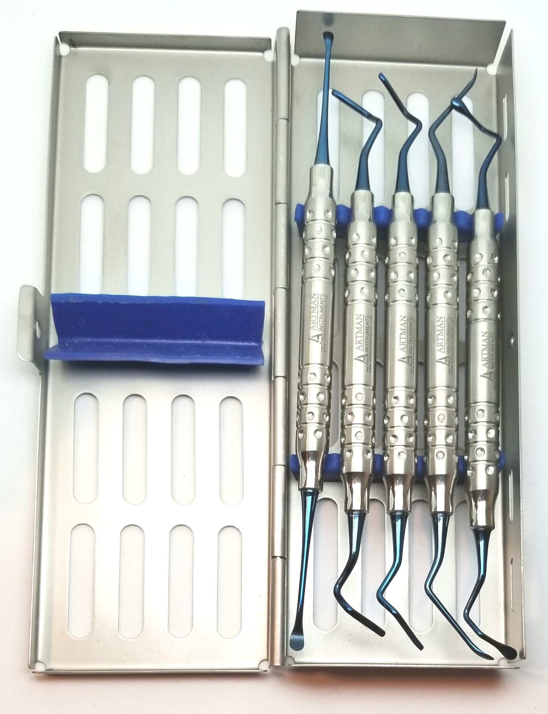 Vista Tunneling Kit in steel cassette (5 pcs, Blue plasma coating) BY Wise Linkers