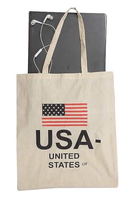 Amazon.com: Bolso de algodón y lona reutilizable con ...
